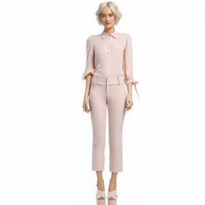 ALICE AND OLIVIA Stacey Slim Ankle Pants In Pink